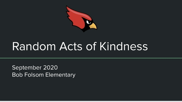 Random Acts of Kindness September 2020