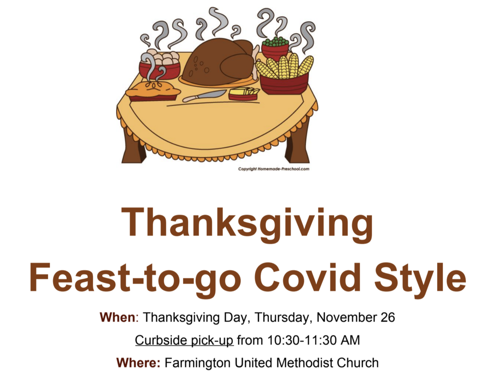 Thanksgiving Feast to Go Sign-Up