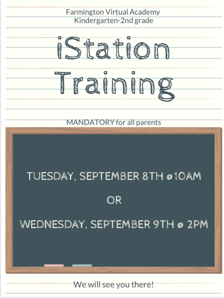 K-2 Virtual iStation Training for Parents