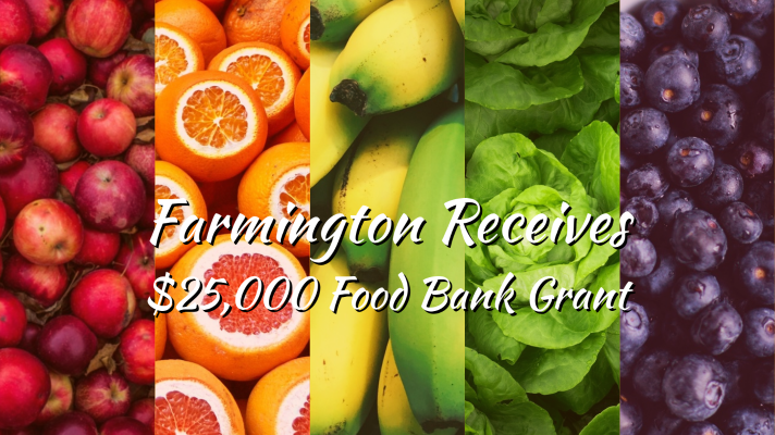 Farmington Public Schools Receives $25,000 Food Bank Grant