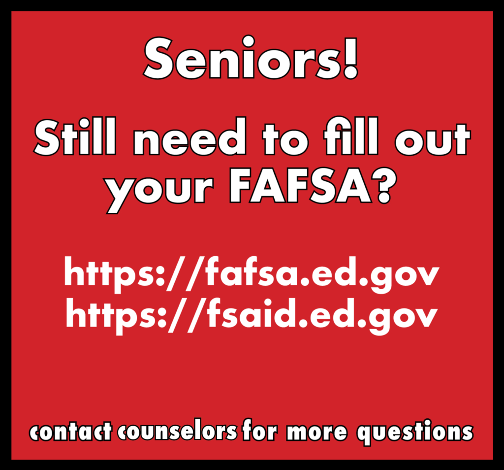 Graphic: Still need to fill out your FAFSA? Visit the websites listed in the comments.