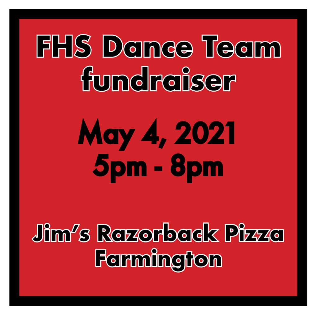 May 4th, 2020 5pm-8pm Jims Razorback Pizza percentage night to support dance